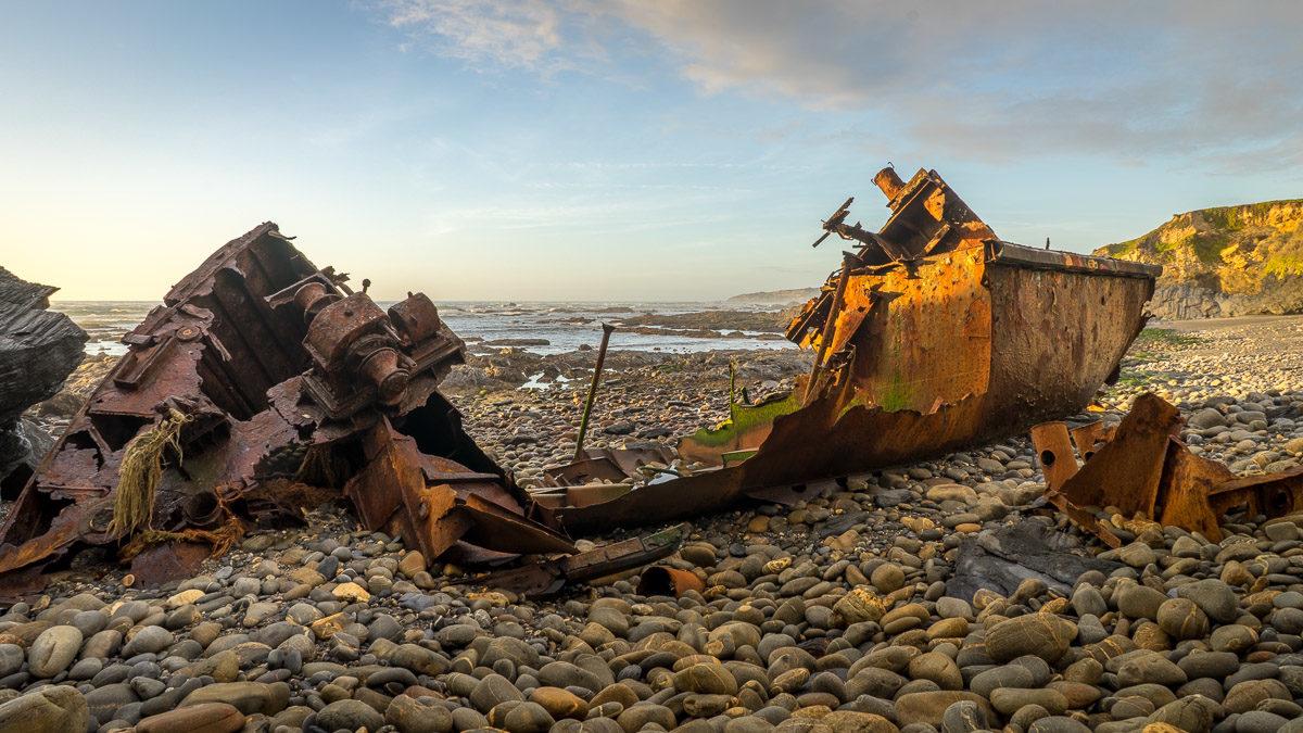 "Das Schiffswrack ""Klemens"" von Vila Nova de Milfontes"