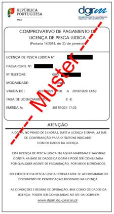 Portugal angeln Lizenz