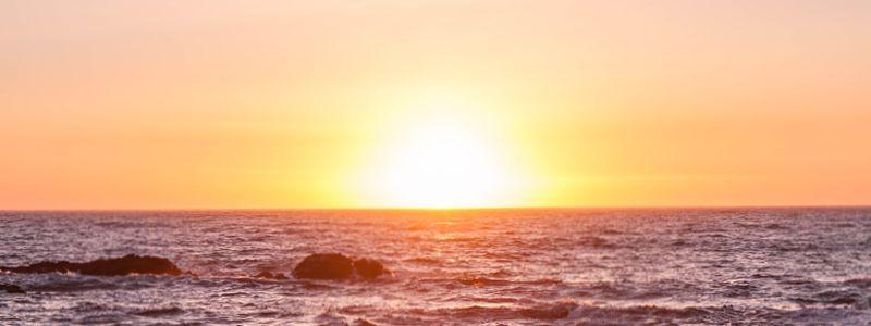 Sonnenuntergang Westküste